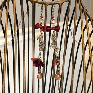 Eiffel Tower earrings.